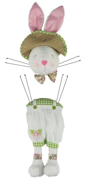 "2 Piece 32""H Boy Bunny Decor Kit Green"