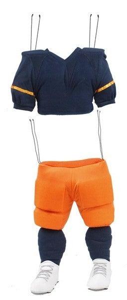 "2 Pc 25.5""H Football Player Decor Kit Navy/Orange/White"