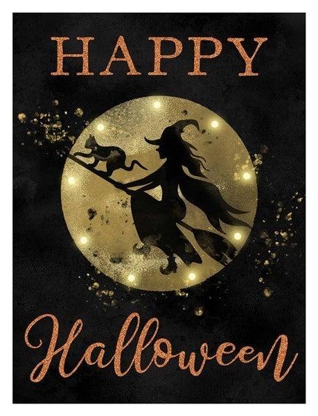 "15.75""Hx11.75""L Happy Halloween W/Lights"