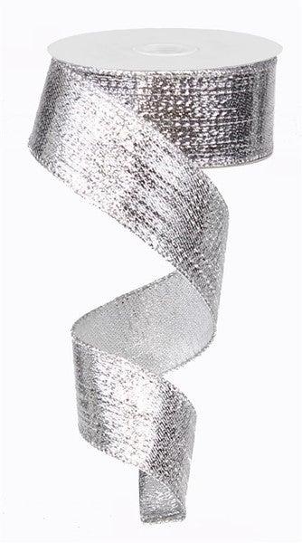 "1.5""X10yd Metallic Ribbon Silver"