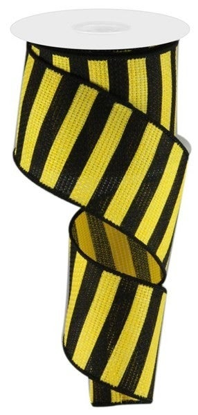 "2.5""X10YD HORIZONTAL STRIPE Color: Yellow/Black"