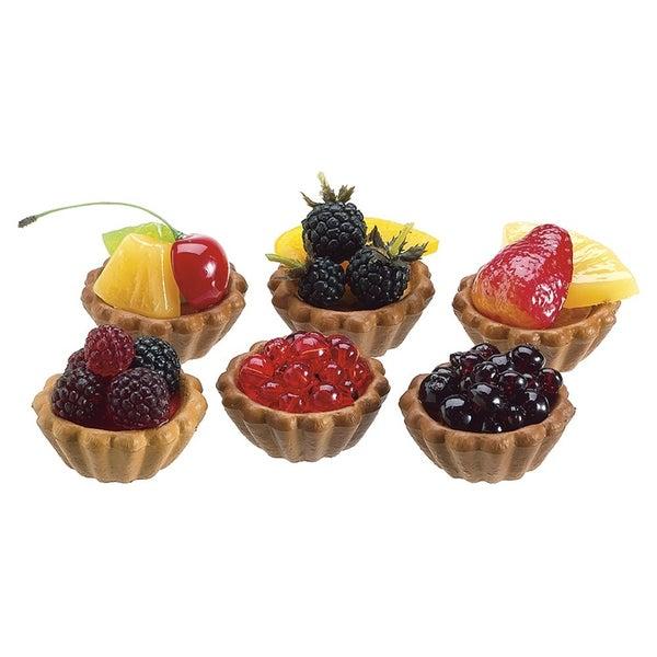 """4""""Wx6.5""""L Berry/Fruit Tarts (6 ea/box) Multiple"""