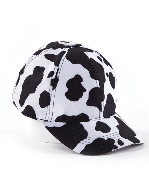 COW PRINT BASEBALL HAT