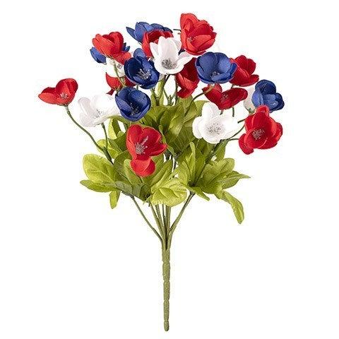 Mini Poppy Bush: Red/White/Blue, 12 Inches