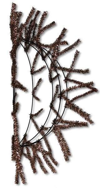 "12""Dia Wire Kd Half Work Ball Metallic Chocolate"
