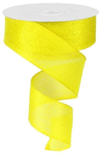 "1.5""X10yd Classic Faux Burlap Yellow"