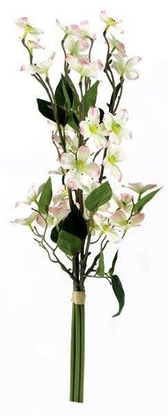 "20""L Dogwood Bouquet White/Pink"