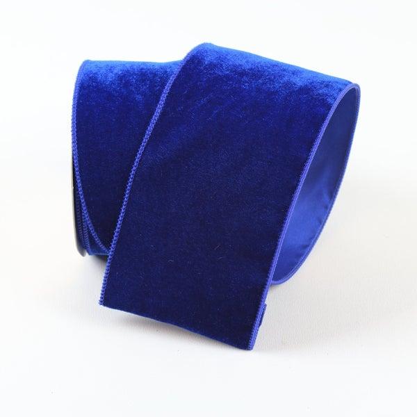 "VELVETEEN 2.5"" X 10YD / MIDNIGHT BLUE"