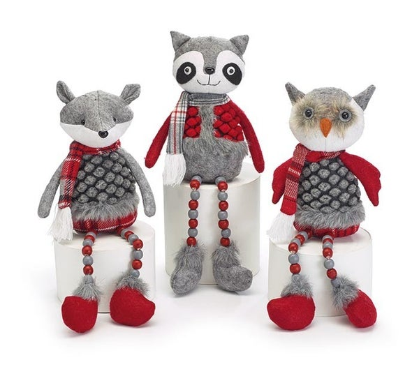 WOODLAND FRIENDS FOX OWL RACCOON