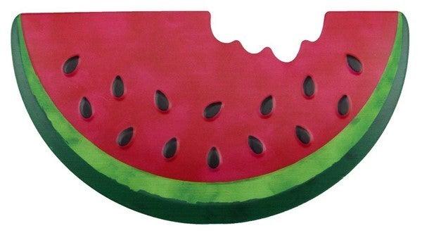 "12""L X 6.25""H Metal Embossed Watermelon"