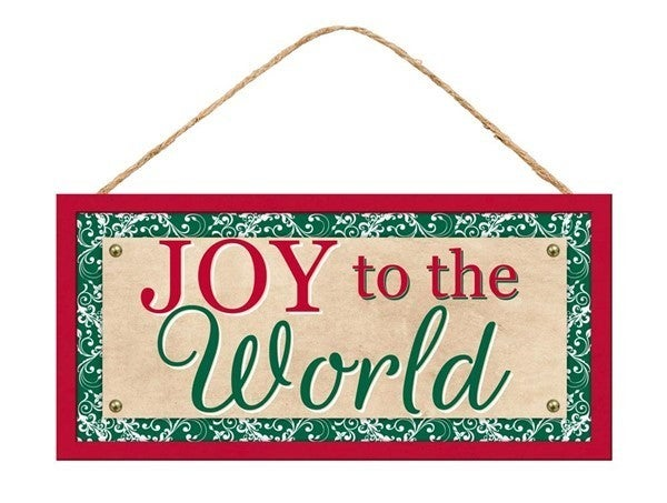 """12.5""""L X 6""""H Joy To The World Sign"""