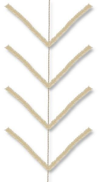 9' Pencil Work Garland X22 Ties Cream