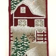 "Light Natural/Snow Barn Scene 2.5""x10yd"