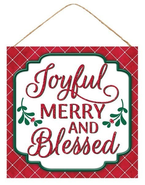 """10""""SQ JOYFUL MERRY AND BLESSED"""