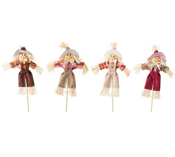 SCARECROW PICK ASSORTMENT OF 4