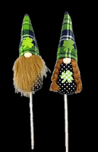 Leprechaun Clover Gnome Pick W3xH22