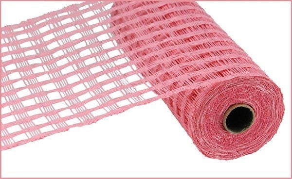 "10""X10YD POLY BURLAP CHECK MESH Color: Pink"