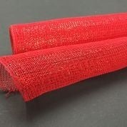 "Red Metallic Fabric Mesh 21""x10yd"