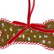 Orn Dog Bone Sprinkle Gingerbread Cookie