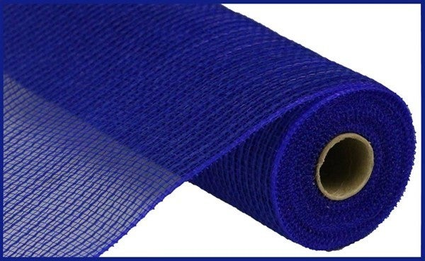 "10.5""X10yd Faux Jute/Pp Stripe Royal Blue"