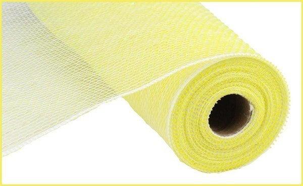 """10.5""""X10YD IRID FOIL MESH Color: Irid Pastel Yellow/White"""