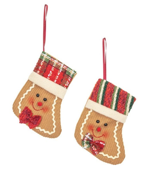 SNOW MUFFIN GINGERBREAD STOCKING ORNAMENT