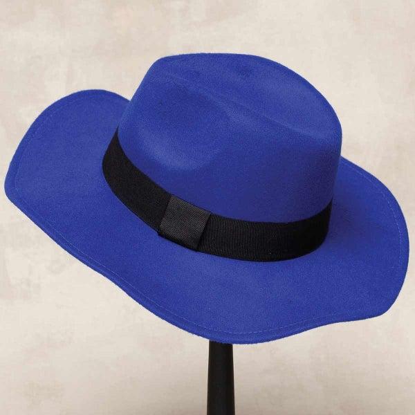 ROYAL BLUE MILAN FLOPPY BRIM HAT