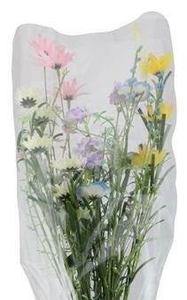 "24""L Fabric/Bead Wild Flower Bouquet Pnk/Yel/Lav/Ivory/Blu/Pur"