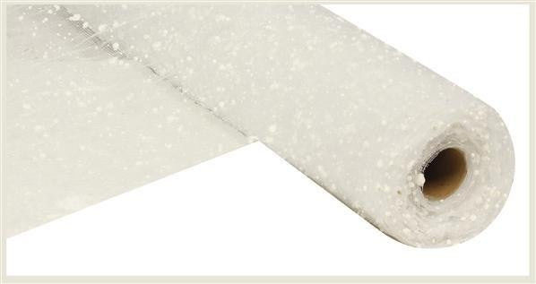 "19.5"" X 10Yd Snow Mesh White"