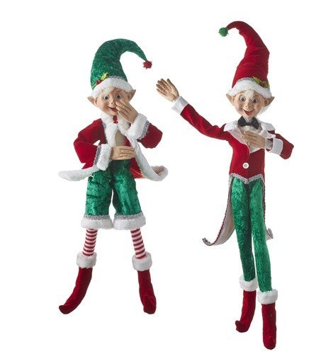 """Country Kitchmas 30"""" POSABLE ELF"""