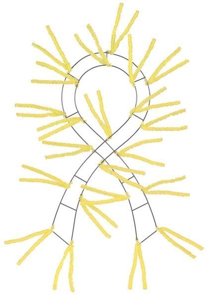 """23.5""""L Support Ribbon Pencil Work Form Yellow"""