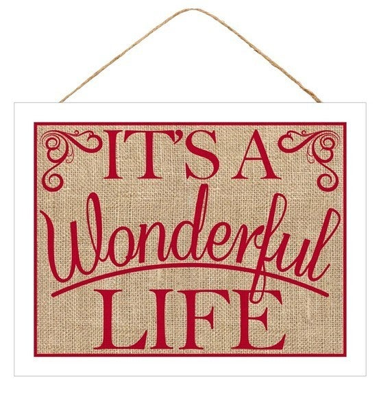"16""L X 12""H It's A Wonderful Life Sign"