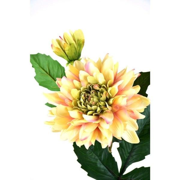"22"" Fresh Touch Dahlia Stem - Yellow/Green"