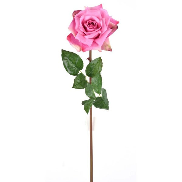 "25"" FRESH TOUCH OPEN ROSE STEM PINK"