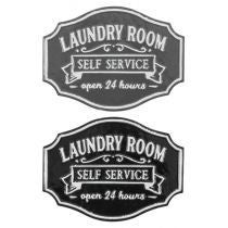 SELF SERVICE LAUNDRY ROOM SIGN