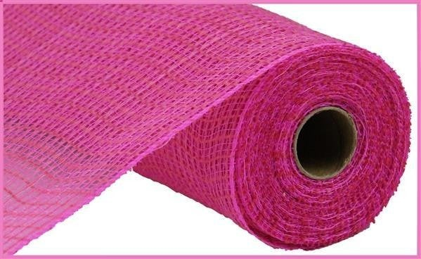 """10.5""""X10yd Faux Jute/Pp Check Hot Pink"""