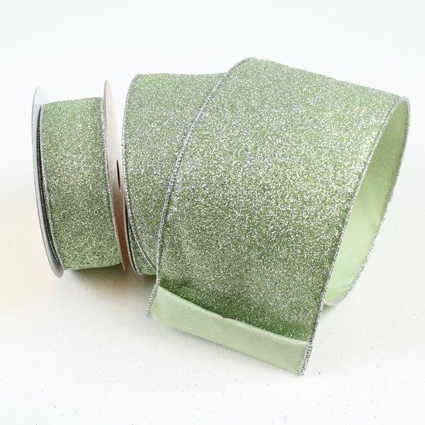 "DIAMOND DUST  1.5""X10Y / MINT GREEN"