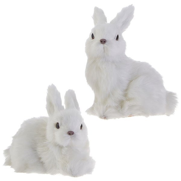 "6"" BUNNY ORNAMENT (White)"