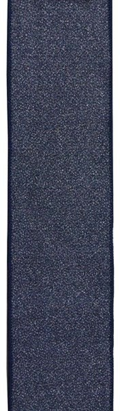 "2.5""X10YD GLITTER ON ROYAL BURLAP Color: Navy"