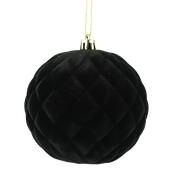 Orn Ball Flocked DIA4 Black