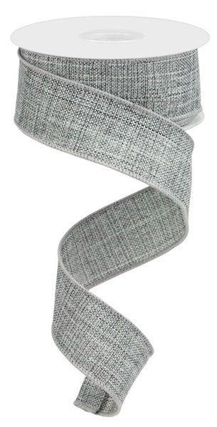 """1.5""""X10yd Thick Royal BurlapColor: Grey"""