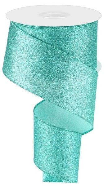 "2.5""X10yd Shimmer Glitter Ice Blue"