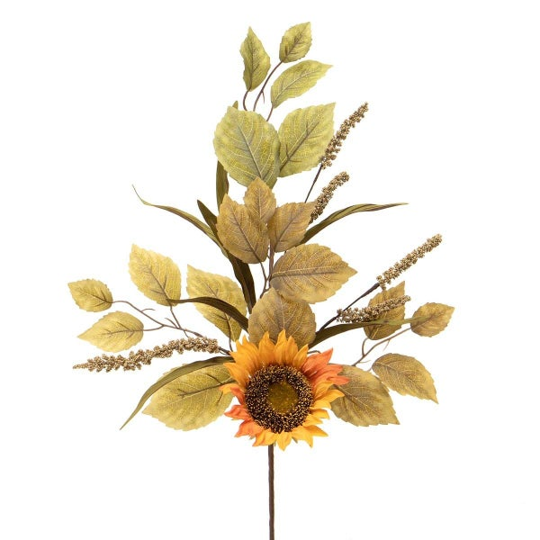 SUNFLOWER AND FOLIAGE MIXED SPRAY WITH ASTILBE,