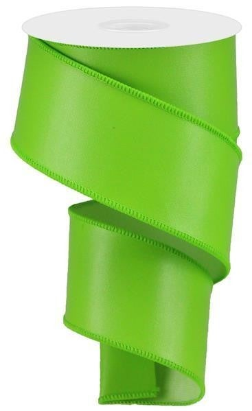 "2.5""X10yd Faux Leather Lime Green"