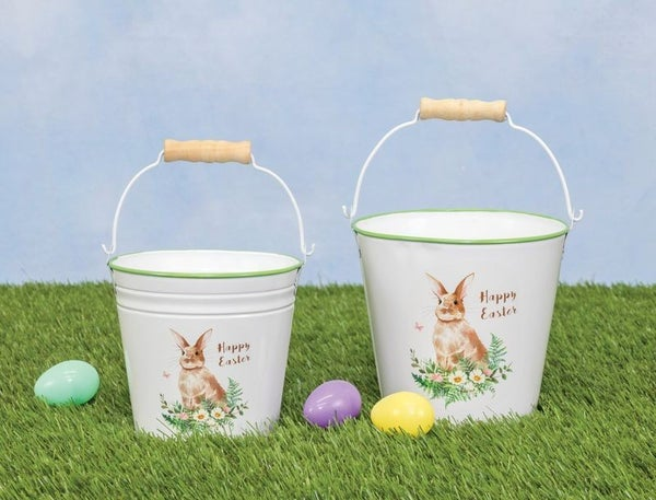 Vintage Easter Bunny Bucket Set
