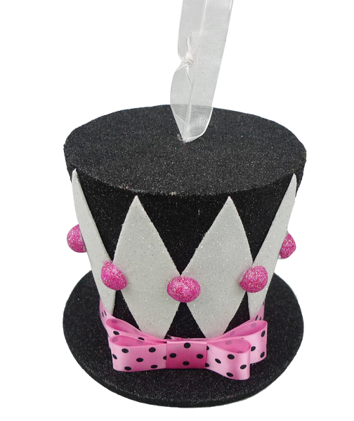 Harlequin Top Hat Dia6Xh5 Black/Pink