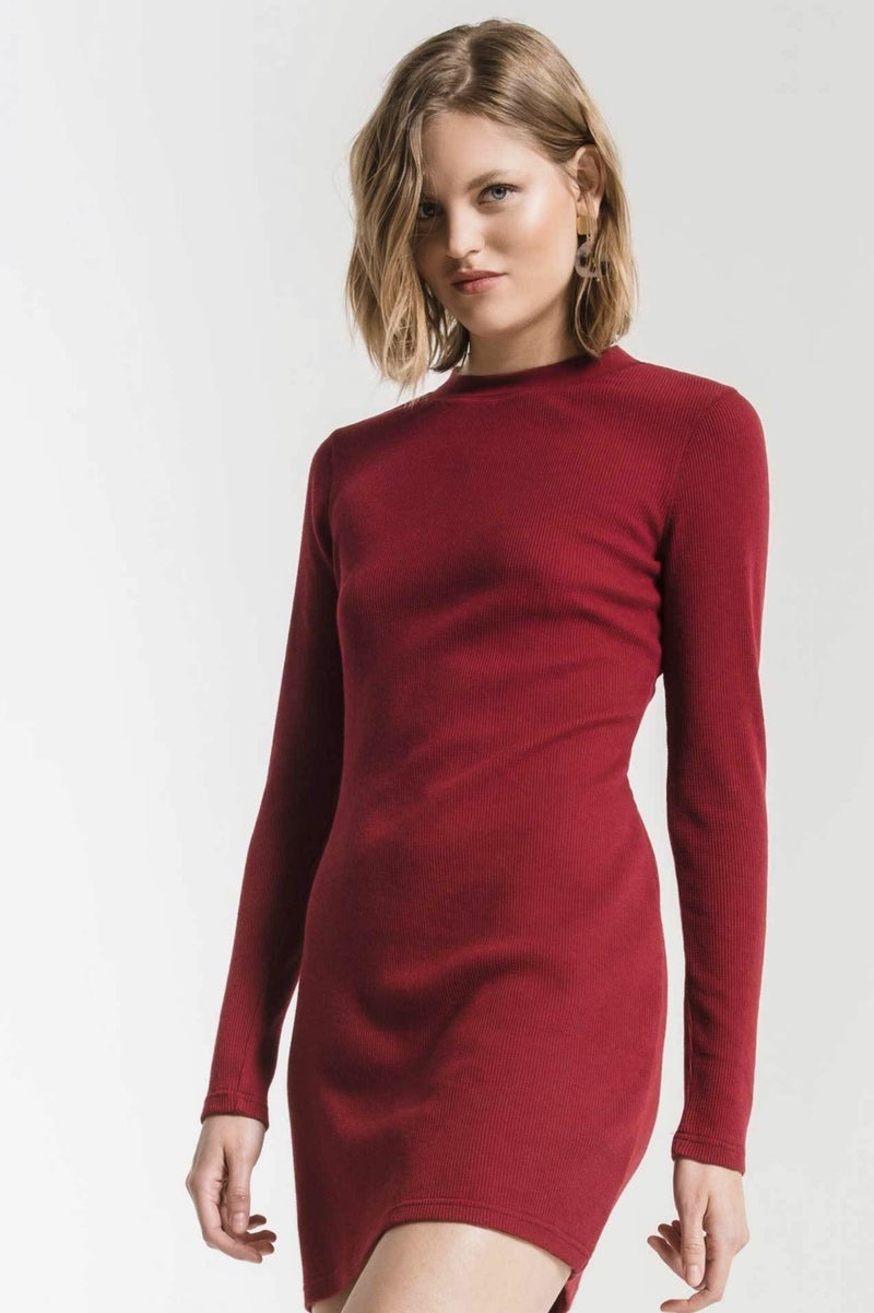 Thermal long sleeve dress