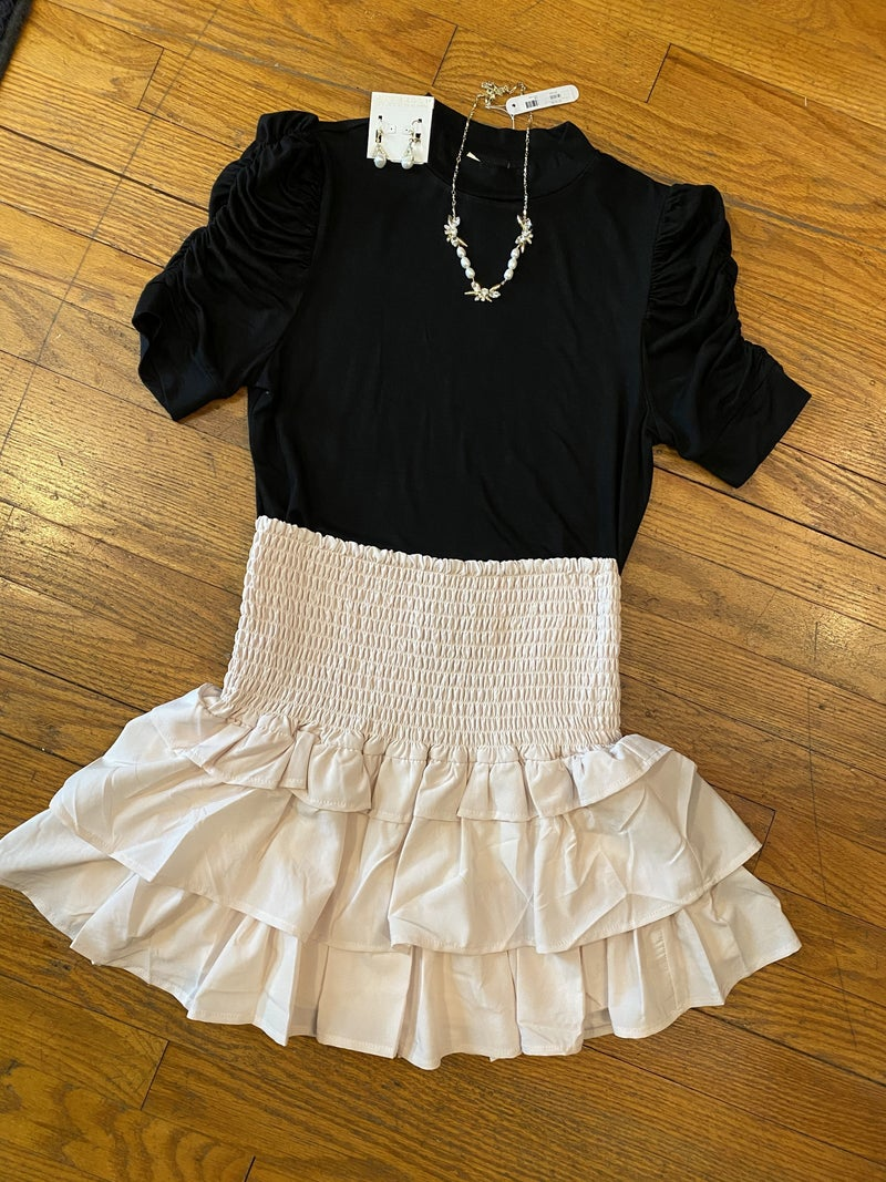 Smocked top skirt
