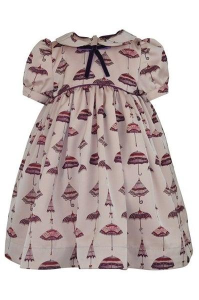 Mary-unique print dress & headband