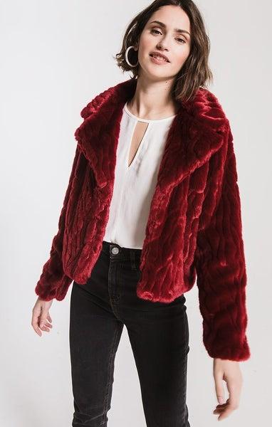 Perla Jacket in Cabernet